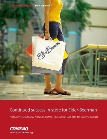 Continued success in store for Elder-Beerman - HP Integrity ...