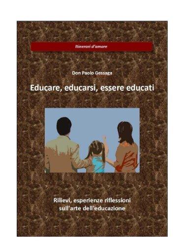 educare, educarsi, essere educati
