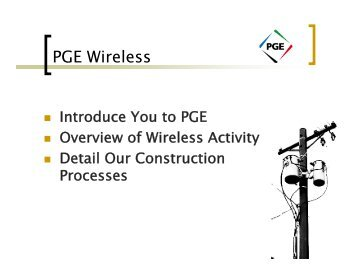 PGE Wi l Wireless