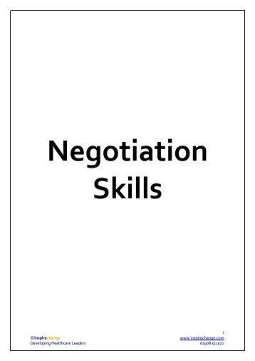 Negotiating - MIR-Online