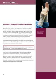 Potential Consequences of Glove Powder - Kimberly-Clark Health ...