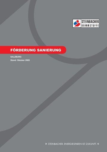FÖRDERUNG SANIERUNG - Steinbacher Dämmstoffe