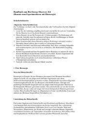 Handbuch zum Bio-Energy Discovery Kit - www2.produktinfo.conrad ...