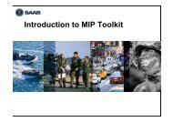 MIP Product Suite Tool Kit Introduction (pdf) - Saab