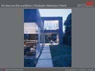 Ein Haus aus Glas und Beton   Christophe Madamour / Hemis
