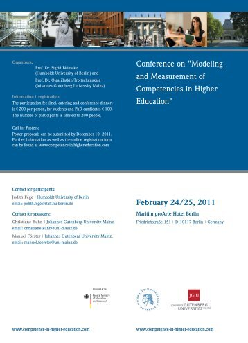 Conference on Modeling and Measurement of ... - DEHEMS