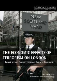 The Economic Effects Of Terrorism On London – Experiences
