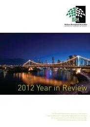 2012 Year in Review - Brisbane Development Association
