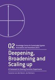 Deepening, Broadening and Scaling up - Transitiepraktijk