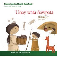 Unay wata ñawpata - La Educación Básica Regular - EBR