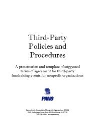Third Party Fundraising Guide - Pennsylvania Association of ...