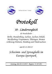 Protokoll - Schleswig-Holsteinischer Schwimmverband eV