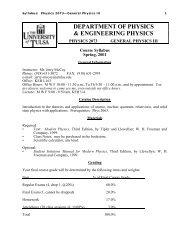 Syllabus - TU Department of Mathematical and Computer Sciences