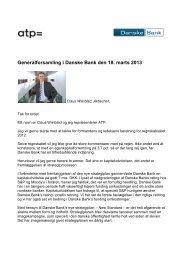 Generalforsamling i Danske Bank den 18. marts 2013 - ATP