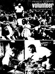 Peace Corps Volunteer – November 1965 - Peace Corps Online