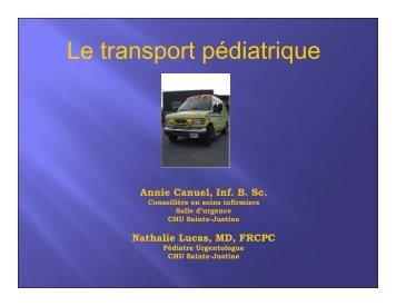 Le transport pédiatrique - CHU Sainte-Justine - SAAC