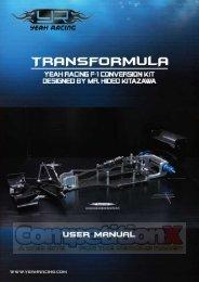 Yeah Racing Transformula F1 Conversion Manual - CompetitionX.com