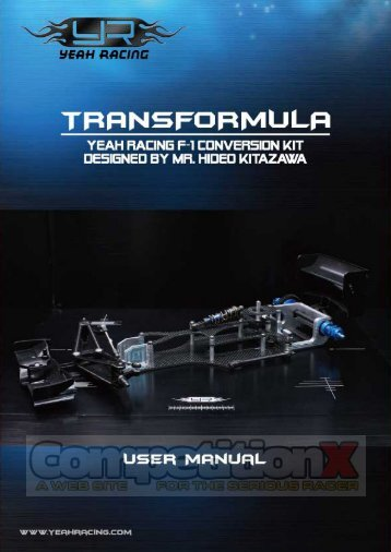 Yeah Racing Transformula F1 Conversion Manual - CompetitionX.com