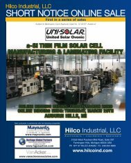 SHort notICe onLIne SaLe - Maynards Industries