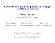 Classical and quantum physics of strongly constrained systems