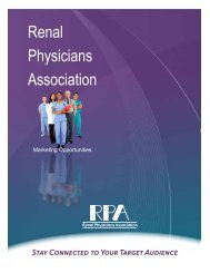 Please download our Media Kit as a PDF. - Renal Physicians ...