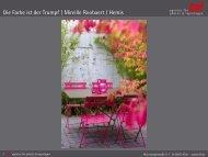 Die Farbe ist der Trumpf   Mireille Roobaert / Hemis