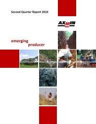Second Quarter Report - AXMIN Inc.