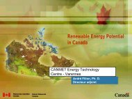 Emerging Renewable Energy Potential in Canada - Pollution Probe