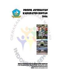 profil kesehatan kabupaten bintan 2006 - Departemen Kesehatan ...