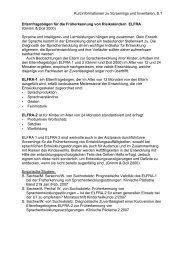 Kurzinformationen zu Screenings und Inventaren, S.1 - Arbeitsstelle ...
