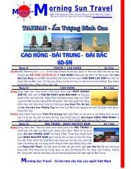 6 n cao hung - chuong trinh - Morning Sun Travel