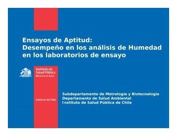 Ensayos de Aptitud: Desempeño en los análisis de ... - Metrologia
