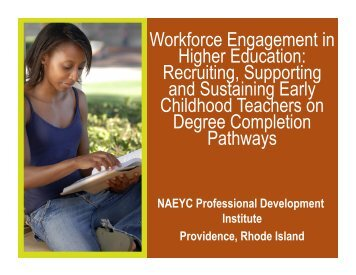 Workforce Engagement in Higher Education - Child Care Services ...