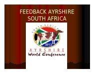 FEEDBACK AYRSHIRE SOUTH AFRICA