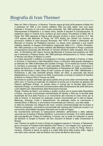 Biografia di Ivan Theimer - Comune di Pisa