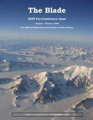 January/February 2009 newsletter (1 MB) - Hoosier Outdoor Writers