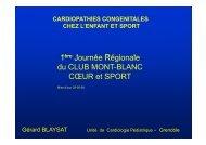 cardiopathies congénitales chez l'enfant et sport - Club des ...