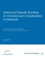 Global and Episodic Bundling - State Coverage Initiatives