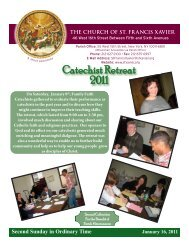 Catechist Retreat 2011 - Church of St. Francis Xavier