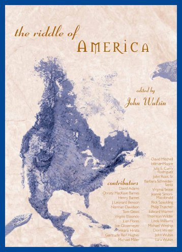 Riddle of America, The - Waldorf Research Institute