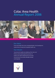 CAH Annual Report 2006 - South West Alliance of Rural Health
