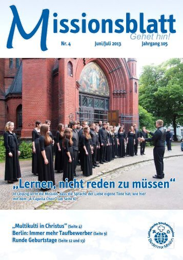 Missionsblatt Juni/Juli 2013 - Lutherische Kirchenmission Bleckmar