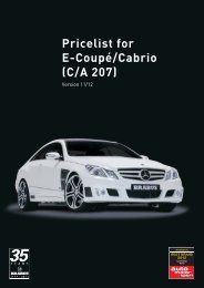 Pricelist for E-Coupé/Cabrio (C/A 207) - Lenartowicz