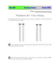 Worksheet #5 - Instruction.greenriver.edu - Green River Community ...
