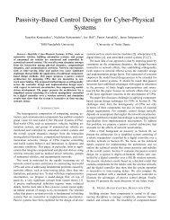 Passivity-Based Control Design for Cyber-Physical ... - CiteSeerX