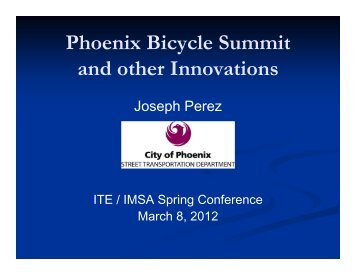 PHX Bicycle Summit & other Innovations - azite