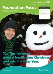 Foundation Focus - Winter 2010-11 edition - Kent and Medway NHS ...