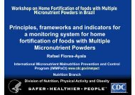 Principles, frameworks and indicators for a monitoring system for ...