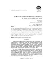 The Research on Submissive Behaviour of Students in the Second ...
