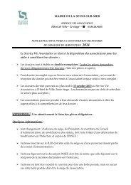 Note explicative et liste des pièces obligatoires - La Seyne-sur-Mer